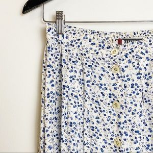 Floral TRIBAL 90s style button-up skirt